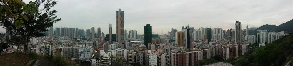 Blick von Norden auf Kowloon