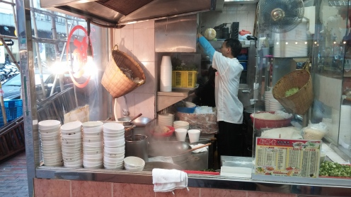 Typisches Restaurant in HK